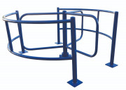 Tourniquet à barrières incurvées - 2 barrières de longueur 2200 mm