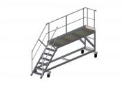 Quai de chargement à escaliers - Surface structure principale :  100 x 300 mm - 7 marches