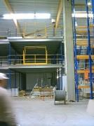 Mezzanine avec plateforme industrielle - Capacité de charge : De 250 à 1000 Kg / m²