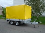 Remorque bache haute - Double essieux - PTAC : 2700 kg
