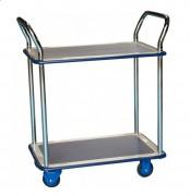 Chariot à plateaux antidérapants - Charge utile : 200 Kg
