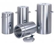 Conteneur alimentaire inox à robinet - Capacité : de 4 à 20 L - Dimensions(HxØ) 346 x 237 mm - Poids : 6 kg