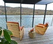 Fauteuil bois naturel - Fauteuil confort et design