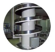 Elévateur spirale - Charges dans le sens vertical