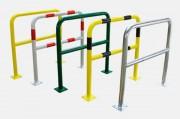 Barrière de protection avec platine - Dimensions : 1000 x 1000mm / 1000 x 1500mm / 1000 x 2000mm - Diamètre : 60 mm