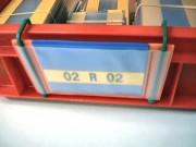 Pochette à crochets de signalétique d'entrepôt