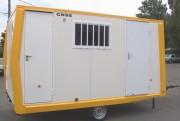 Abri aménagé à gaz pour chantier - Gamme C ( D458, D459, D460, D559 )
