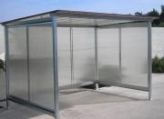 Abri arrêt bus - Dimensions (HxPxL) (m) : de 2,2 x 1,5 à 12 x 3 m - Ossature métallique