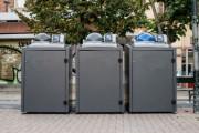 Abri bacs pour Biodéchets avec contrôle d'accès - Compatibilité pour bacs de 120 à 360 L