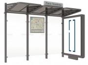 Abri bus 3000 mm avec caisson lumineux - Longueur : 3000 mm - Caisson lumineux