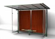 Abri bus 3400 x 1850 mm - Hauteur : 3.50 m - Dimensions : 3400 x 1850 mm