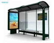 Abri bus 4100 x 2777 mm - Longueur x Hauteur  : 4100  x 2777 mm
