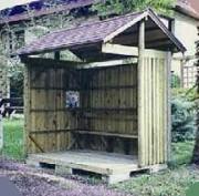 Abri bus en bois 3.00 x 1.50 m - Dimensions (m) : 2.00 x 1.50 - 2.50 x 1.50 ou 3.00 x 1.50 m