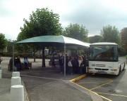 Abri bus en toile - Convient aux arrêts scolaires et aux lignes de bus