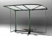 Abri bus modulable - Hauteur : 3.50 m avec toit marquise - Poids 680 kg