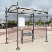 Abri bus poteaux ronds - Longueurs disponibles (m) : 2.5 - 5