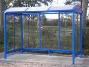 Abri bus ville - Ossature métallique - Dim (HxPxL) : 2 x 1,5 à 3 x 3 à 4 m