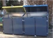Abri cache conteneur anti vandalisme - Capacité poubelle : 1100 Litres