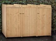 Abri cache poubelle en bois - Dimensions : I196 x P80 x H117 cm
