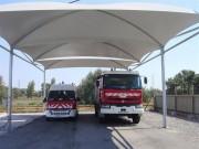 Abri camion pompier - Haute résistance aux aléas climatiques