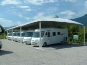 Abri camping car 10 x 5.50 métres - Dimensions (m) : L(10.00m) x l(5.50m) x h(2.07m)