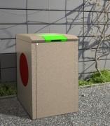 Abri container poubelle 150 L - Différentes combinaisons de coloris possible