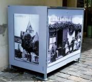 Abri conteneur décoré personnalisé-Abribac - Dimensions ext : larg. 700 x Prof. 1000 x Ht. 1100 - En tôle galva