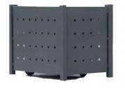 Abri conteneur en acier - Dimension (hxpxl) mm : 1200 x 1050 x 750/1500