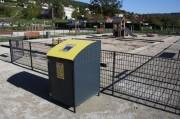 Abri conteneur en aluminium - Capacité poubelle : 330 Litres