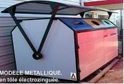 Abri conteneur esthétique - Protège 3 conteneurs de 660 litres