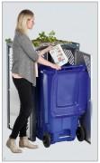 Abri conteneur poubelle 120 et 240 L - Pour conteneurs de 120 L et 240 L