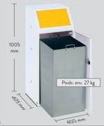 Abri conteneur poubelle - Capacité : 90 L - Dimensions : 400 x 405 x 1005 mm - Poids : 27 Kg