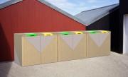 Abri conteneur poubelle beton - Abri containers béton design Ypsilon