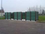 Abri conteneur sur platines peintes - Modules de largeur 60-72-83-101 ou 131cm