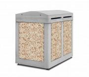 Abri conteneurs poubelles en béton anti-vandalisme - Hauteur : 1450 mm   -  Largeur : 1080 mm