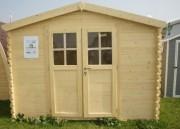 Abri de bois - Surface extérieure au sol : 5.95 m²