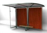 Abri de bus design - Hauteur : 3.50 m - Dimensions : 3400 x 1850 mm