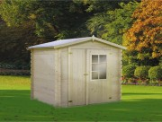Abri de jardin 3.1 m² - En sapin du nord  - Surface extérieure au sol : 3,92 m²