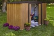 Abri de jardin acier galvanisé 4.6 m² - Dimensions extérieures hors tout (Lxpxh) : 253 x 181 x 177 cm