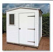 Abri de jardin bois 4.41 m2 - Dimensions (Lx l x h) : 2.10 x 2.10 x 2.25 m