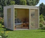 Abri de jardin design - Superficie : 2.64 m x 2.56 m : 6.55 m2