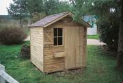 Abri de jardin en bois 2.00 x 2.00 mètres - Dimensions (L x P x H) : 2.00 x 2.00 x 2.40 m