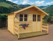 Abri de jardin en bois massif - Dimensions extérieures (l x P) : de 3.00 x 2.00 à 3.00 x 3.00 m