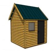 Abri de jardin en bois traité autoclave - Dimensions (mm) : L 2430 x l 2430 x h 3365 ou L 4000 x l 2430 x h 3437
