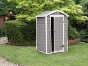 Abri de jardin en résine - Dimensions extérieures hors tout (L x P x H) : 130 x 104 x 198 cm