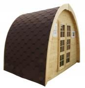 Abri de jardin igloo 7.47 m² - Surface extérieure au sol : 9.12 m²