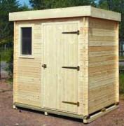 Abri de jardin moderne bois 3.36 m2 - Dimensions (Lx l x h) : 2.10 x 1.60 x 2.20m