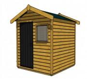 Abri de jardin pour terrasse - Dimensions (mm) : 2000 x 2000 x 2640
