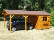 Abri de jardin pour voiture - Surface total (Abri jardin + Abri voiture) : 18 ou 21m²