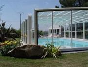 Abri de piscine rétractable - Atlantis haut